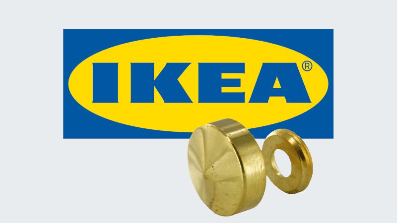 Embellir un meuble Ikea avec des caches vis marbrier
